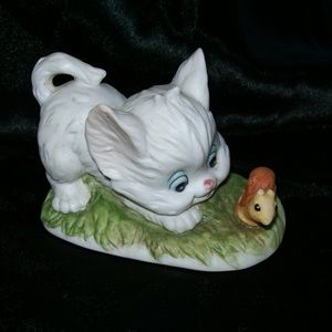 Lefton China Hand Painted Kitten Figurine